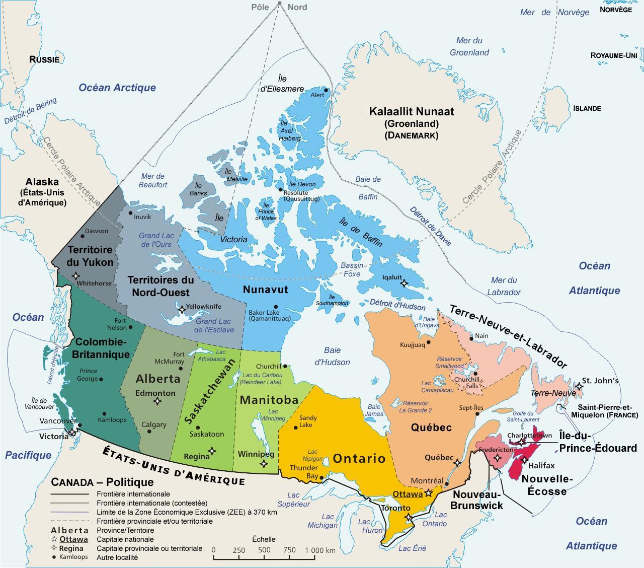 Canada Museer Kort Kort Over Canada Museer Det Nordlige Amerika