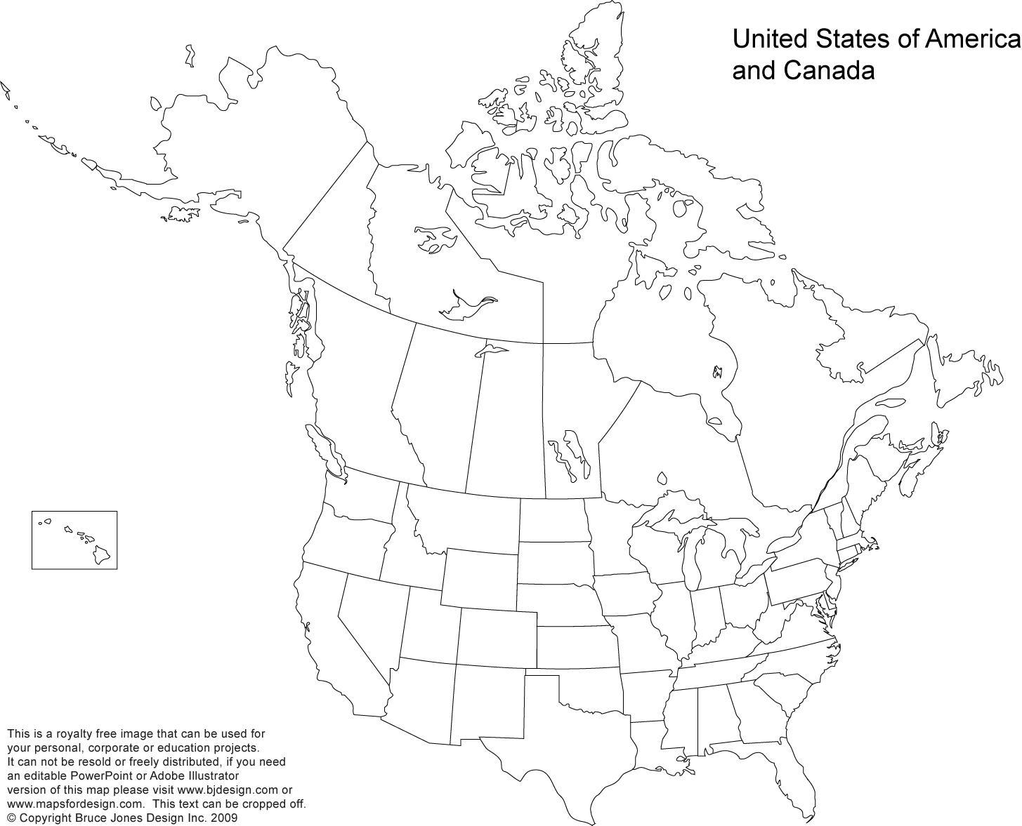 Kort Over Amerikanske Stater Og Canada Usa Og Canada Kort Det