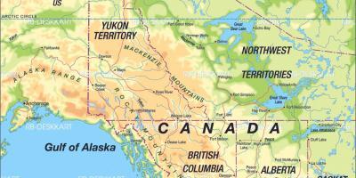Vej Kort Over Det Vestlige Canada Kort Over Canada Western Road